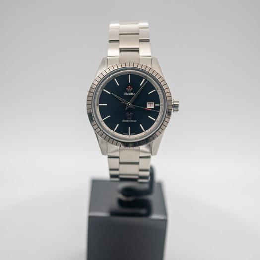 ラドー ハイパークローム 自動巻き ブルー 文字盤 セラミック メンズ 腕時計 R33101204