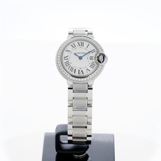 カルティエ バロン ブルー ドゥカルティエ クォーツ White Dial Ladies Watch
