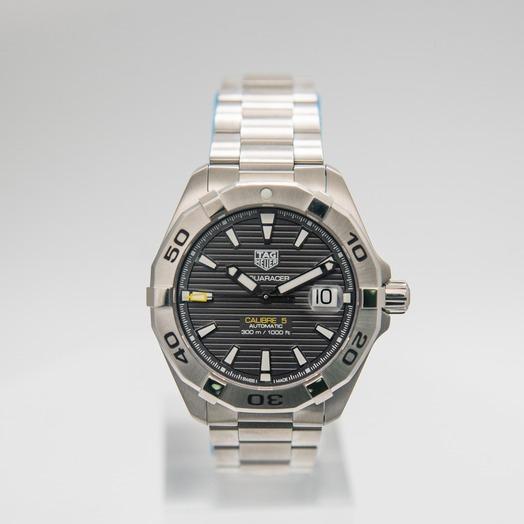 タグ ホイヤー Aquaracer Calibre 5 Automatic Grey Dial Men's Watch WBD2113.BA0928