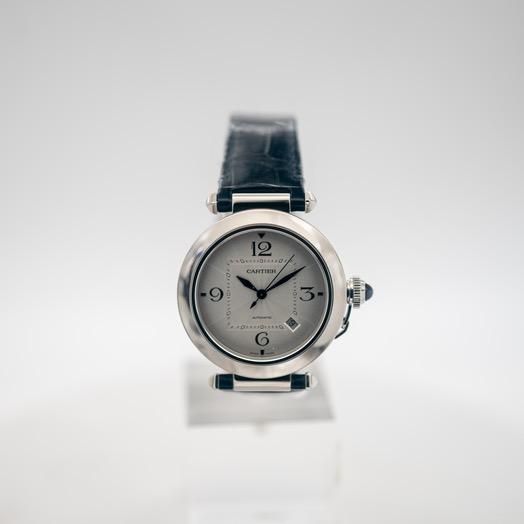 カルティエ パシャドゥカルティエ 自動巻き シルバー 文字盤 ステンレス メンズ 腕時計 WSPA0010
